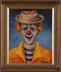 The Official Home Page of Red Skelton - beloved comedian, actor, artist and humanitarian. Red Skelton Paintings, Creepy, Scary, Send In The Clowns, Circus Clown, Painting Gallery, Room Themes, Projects To Try, Statue