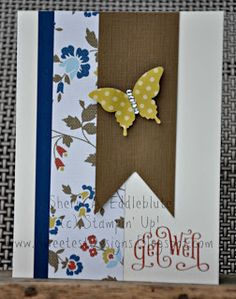 Stampin' Up! Perfectly Penned, Elegant Butterfly Punch, Comfort Cafe DSP
