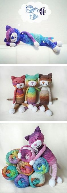 """Large ami cats - free pattern """"My Hobby Is Crochet: Large ami cats - free pattern"""", """"Large amigurumi Cat (about 36 cm tall) - Free English Pattern"""", Easy Crochet Patterns, Crochet Patterns Amigurumi, Crochet Dolls, Knitting Patterns, Amigurumi Tutorial, Crochet Ideas, Crochet Cat Pattern, Mittens Pattern, Loom Patterns"""