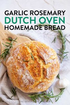 Looking on how to bake bread in a dutch oven? It's so easy! This homemade dutch oven herb bread is so simple and so delicious! You're going to love this recipe! Artisan Bread Recipes, Bread Machine Recipes, Baking Recipes, Dutch Oven Bread, Dutch Oven Cooking, Dutch Oven Sourdough Bread Recipe, Dutch Oven Breakfast, Easy Dutch Oven Recipes, Dutch Oven Chicken