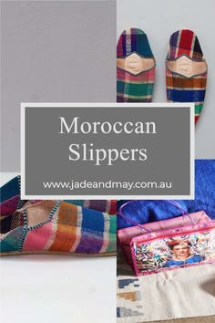 Jade and May offer these gorgeous leather Moroccan Babouche slide on slippers to complement your Jade and May Kimono Dressing Gown or Sleepwear. Choose from our soft, round toed vintage style slipper that come in a full range of fun colours or from our more traditional style Moroccan slipper in a pointed toe.  Trust me - not only are these Moroccan slippers super cute, but comfy as well!