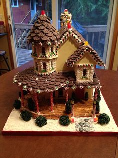 Gingerbread Victorian. Repinned by www.mygrowingtraditions.com