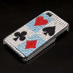 This is brand new rhinestones hard case for Apple iPhone. Sparkling rhinestones conglutinated all around the hard case. Makes your case stylish and eye-catching. Absolutely stunning while against abrasion and scratch marks. With exquisite cutout for easy access to ports and buttons. Simple snap-on design, lightweight and fine workmanship.($4.99 )