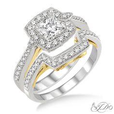- I Do Collection: Bridal Engagement Set - [28621FHWY-WS]