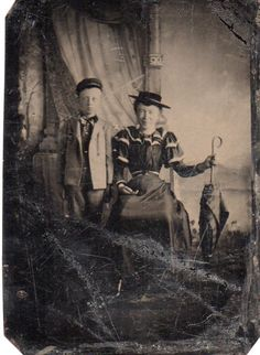 I feel like this antique photo would've fit right into Miss Peregrine's Home For Peculiar Children.