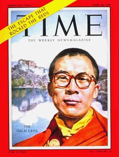 His Holiness the Dalai Lama on TIME Magazine cover, April 1959. He was 24.