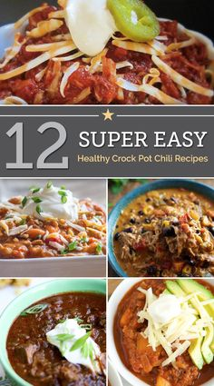 12 super easy healthy crock pot chili recipes 12 super easy ...