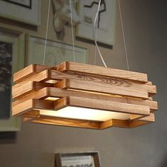 TBQING Estilo moderno/contemporáneo/madera/bambú lámpara…