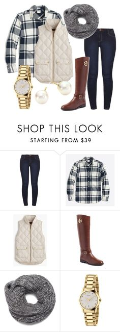 """fall!! "" by vt-prep ❤ liked on Polyvore featuring Dorothy Perkins, J.Crew, Tory Burch, Nine West, Gucci and Majorica"