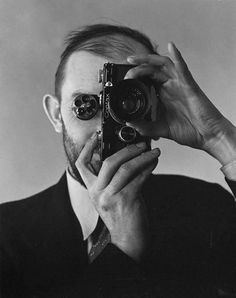 #FlashbackFriday Ansel Adams just after he got a Contax camera. And yes, he's hatless.   Edward Weston, 1936