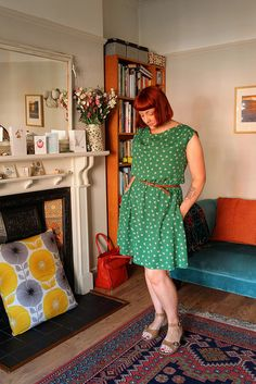 Myrtle dress in a woven fabric, Colette Patterns
