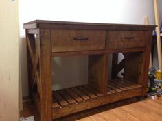 Rustic X Kitchen Island | Do It Yourself Home Projects from Ana White