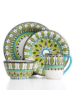 Tabletops Unlimited Stella  sc 1 st  Pinterest & Vida by Eva Mendes Dinnerware Amalfi 4 Piece Place Setting - Casual ...