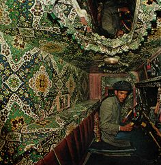 Bohemian car interior - National Geographic 1968