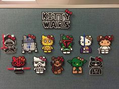 Hello Kitty Star Wars Perler Beads, Kitty Wars