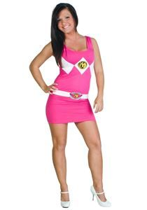 Power Ranger Pink Tank Dress #halloween #halloweenlife365 #easycostumes #halloweencostumes #powerrangers #pinkranger
