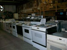 Habitat for Humanity- ReStore, Sarasota...  Array of Appliances from stove, refrigerators, washer & dryers