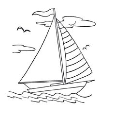 Print Sail Boat Coloring Page coloring page & book. Your own Sail Boat Coloring Page printable coloring page. With over 4000 coloring pages including Sail Boat Coloring Page . Free Coloring Sheets, Coloring Book Pages, Printable Coloring Pages, Coloring Pages For Kids, Boat Drawing, Drawing For Kids, Quilling Patterns, Stained Glass Patterns, Embroidery Patterns