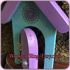 Reclaimed Wood, Fairy Garden, Distressed wood, Fairy Door, Garden Decor, Girls Room Decor, Gifts for Her, Birthday, Housewarming, Doors by WoodenBLING on Etsy