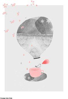illustration 'Tea time' by My Lovely Thing Illustration Mignonne, Art Et Illustration, Ouvrages D'art, Art Design, Illustrators, Art Drawings, Street Art, Sketches, Art Prints