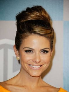 We love how Maria Menounos's bun resembles Audrey Hepburn's Breakfast at Tiffany's style. LOVE THIS!!!