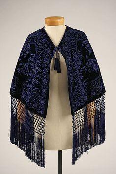 Mantle  Date: 1840s Culture: American or European Medium: silk