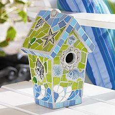 Beautiful mosaic birdhouse!