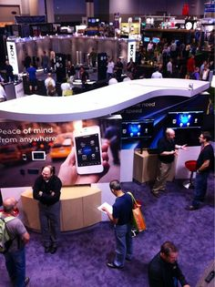 Roughly 1/4 of the #Control4 booth. Includes flagship HC-800, HC-250, mobile apps & more. #CEDIA 2012