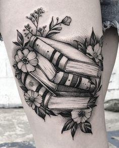 geometrisches Tattoo Muster Flower Tattoo D Bookish Tattoos, Literary Tattoos, Tattoo Line, Book Tattoo, Shape Tattoo, Farm Tattoo, Tattoo Quotes For Men, Tattoos For Guys, Unique Tattoos