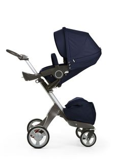 Stokke® Xplory® Deep Blue –The Ultimate Connection Stroller