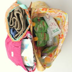 Sub cotton for laminated cotton on these great purse organizers so they are easier to keep clean!