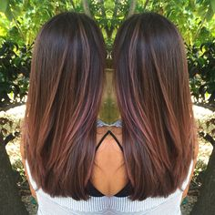 """127 Likes, 3 Comments - •Kelly Massias• (@kellymassiashair) on Instagram: """"Rich chocolate brown with a touch of rose"""""""