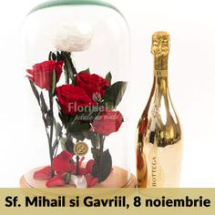 Flori Sfintii Mihail si Gavriil Wine Decanter, Wine Carafe