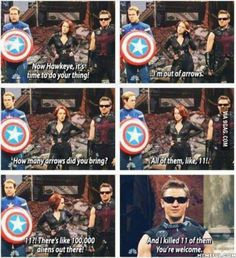 Hawkeye is a Savage