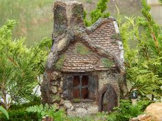 Enchanted Hollow House Cottage Miniature Faerie Gnome Hobbit Fairy Garden
