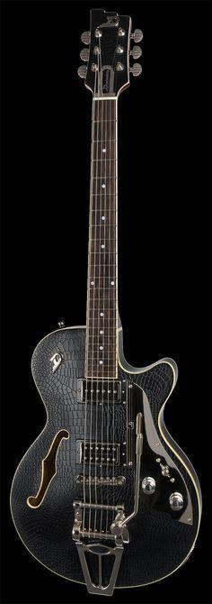 Im in Love!!!-Black Alligator Duesenberg Guitar