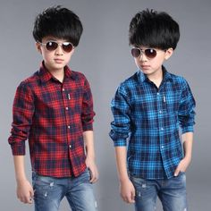 54.00$  Watch now - http://alirfv.shopchina.info/go.php?t=32740016833 - 2016 new spring autumn Girls Kids Boys Cotton long-sleeved plaid shirt  comfortable cute baby Clothes Children Clothing 54.00$ #buyonlinewebsite