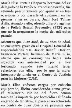 Policiacas: María Elisa Portela Chaparro bajo tratamiento médico...