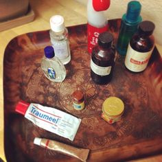 Little details... Potions, oils, remedies and more in the treatment room. Copper tray is from @worldmarket #acupuncture #remedies #painrelief #worldmarket #officedecor