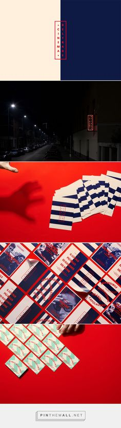 Cinema Beltrade – The best cinema in town on Behance... - a grouped images picture - Pin Them All