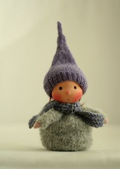 Knitted Waldorf gnome doll 6 by Peperuda by PeperudaKnittedDolls