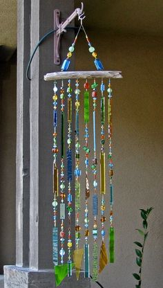 Stained Glass Wind Chime, by Judy Evans - California, USA Beauteous! Would like to try something like this myself