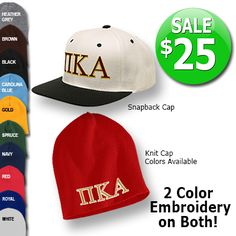 Fraternity Beanie and Snapback Cap Sale $25 #somethinggreek #anniversary #fraternity #sorority #apparel