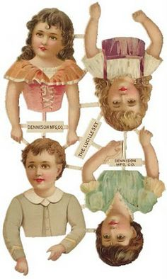 EKDuncan - My Fanciful Muse: Antique Paper Doll Collecting - always a learning experience Victorian Paper Dolls, Vintage Paper Dolls, Antique Dolls, Victorian Dollhouse, Modern Dollhouse, Vintage Ephemera, Vintage Cards, Vintage Images, Images Victoriennes