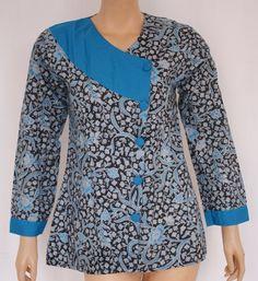blouse batik kombinasi - Google Search
