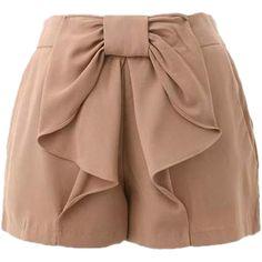 high waisted neutral shorts