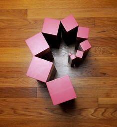 Our Montessori Story: Free Pink Tower/Brown Stair Extensions, Part 2 logo Montessori Homeschool, Montessori Classroom, Montessori Toddler, Montessori Activities, Homeschooling, Classroom Ideas, Block Area, Montessori Materials, Eyfs