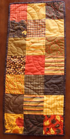 Quilted Fall and Thanksgiving Table Runner by JennyMsQuilts, $35.00