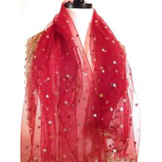 Red Shawl, Formal Wrap, Beaded Wrap, Evening Shawl, Red Wedding Shawl,... ($50) ❤ liked on Polyvore featuring accessories, scarves, wrap scarves, formal shawl, red shawl, wrap shawl and red scarves