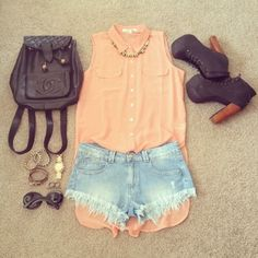 17 Teenage Spring & Summer Outfit With Shirt – Top Trend On Famous Fashion Blog - DIY Craft (4)